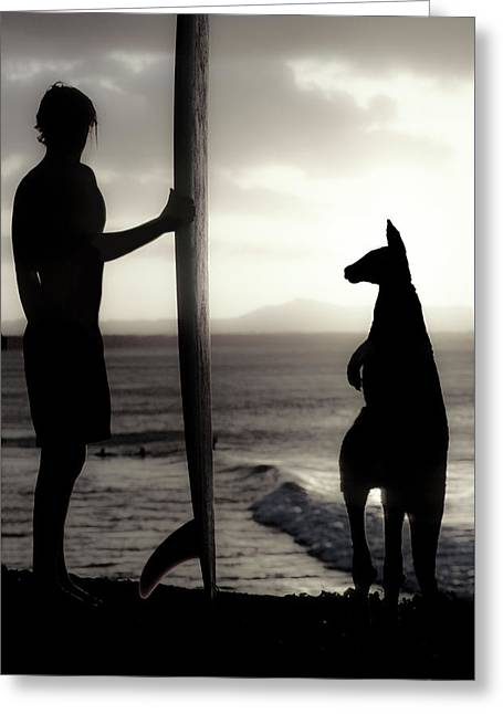 Aussie Surf Silhouettes Greeting Card