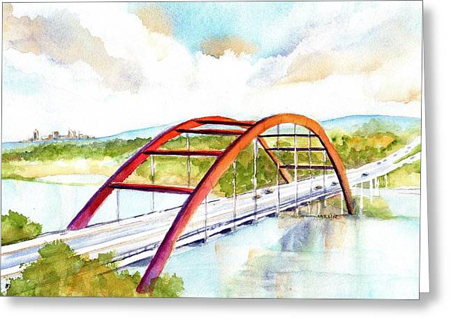 Austin 360 Bridge - Pennybacker Greeting Card