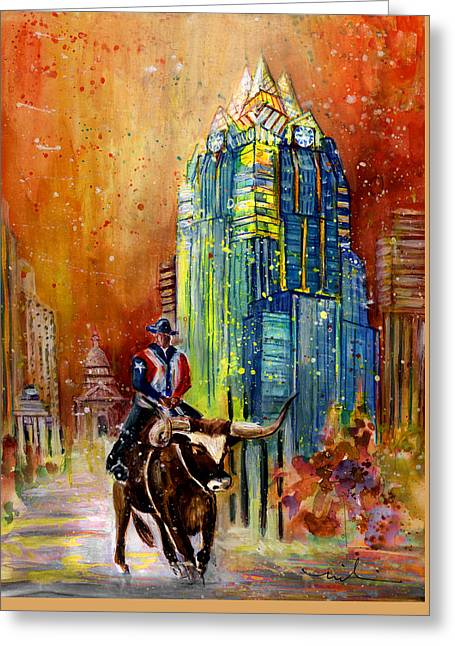 Austin Authentic 01 Greeting Card by Miki De Goodaboom