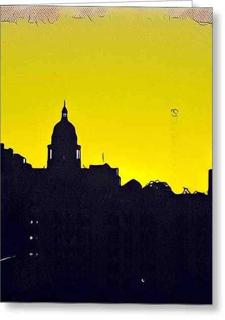 Austin Capital At Sunrise Greeting Card