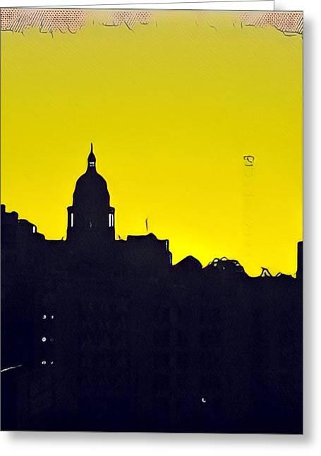 Austin Capital At Sunrise Greeting Card