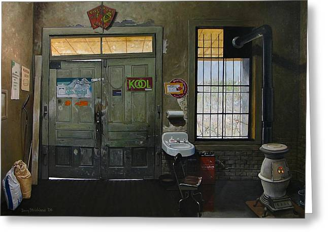 Austin General Store Interior Greeting Card by Doug Strickland