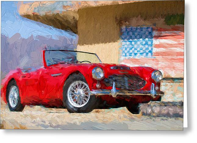 Austin Healey 3000 Impasto Study 2 Greeting Card