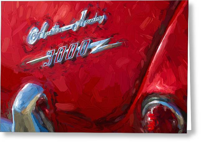 Austin Healey 3000 Impasto Study 3 Greeting Card