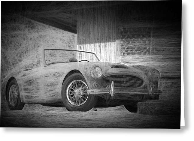 Austin Healey Chalk Study 2 Greeting Card