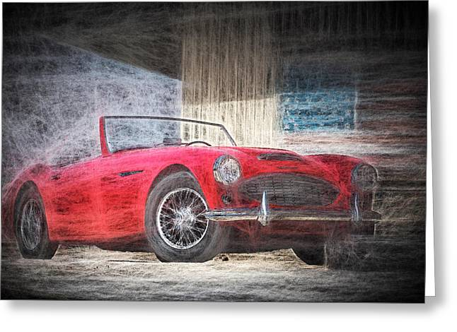Austin Healey Chalk Study 4 Greeting Card