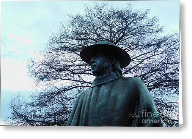 Austin Hike And Bike Trail - Iconic Austin Statue Stevie Ray Vaughn - Two Greeting Card