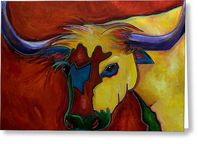 Austin Longhorn Greeting Card by Patti Schermerhorn