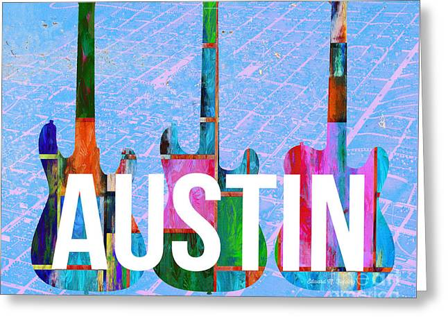 Austin Music Scene Greeting Card by Edward Fielding