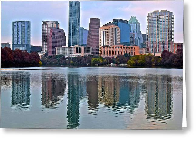 Austin Reflects In 2016 Greeting Card by Frozen in Time Fine Art Photography