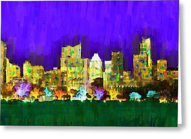 Austin Skyline 154 - Pa Greeting Card by Leonardo Digenio