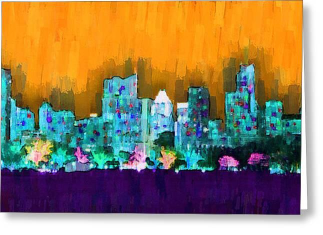 Austin Skyline 157 - Pa Greeting Card