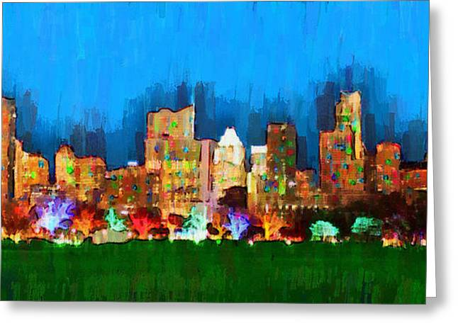 Austin Skyline 165 - Da Greeting Card by Leonardo Digenio