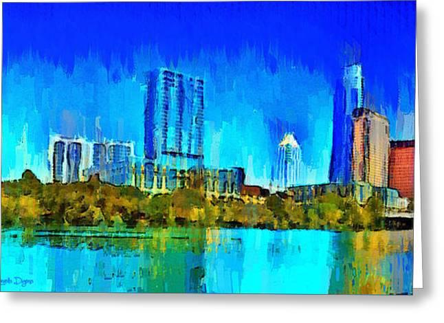 Austin Skyline 301 - Pa Greeting Card by Leonardo Digenio