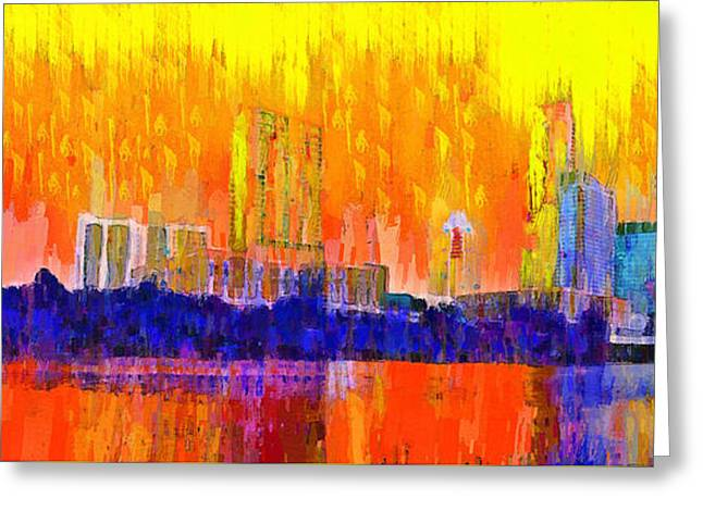 Austin Skyline 312 - Pa Greeting Card
