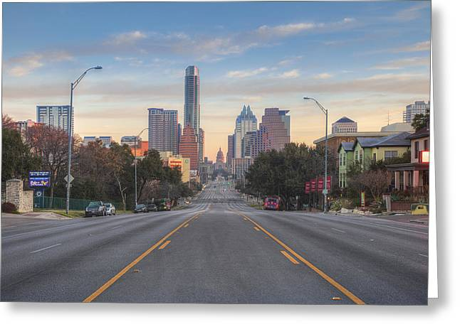 Austin Skyline And Capitol On A February Morning Greeting Card