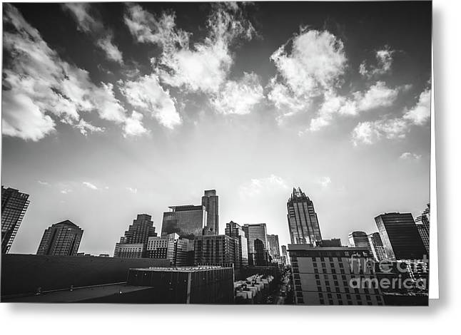 Austin Texas Black And White Photography Greeting Card by Paul Velgos