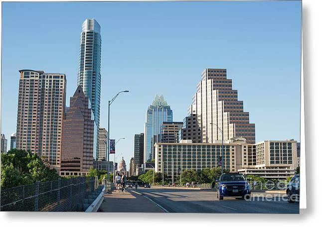 Austin Texas City Skyline During Day Greeting Card by Juli Scalzi