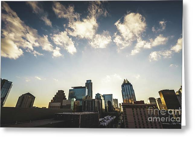 Austin Texas Downtown Buildings Photo Greeting Card by Paul Velgos
