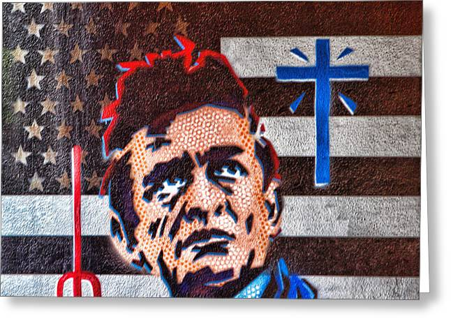 Austin Texas Johnny Cash Mural Greeting Card