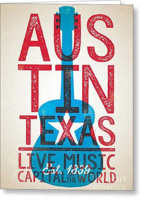 Austin Texas - Live Music Greeting Card