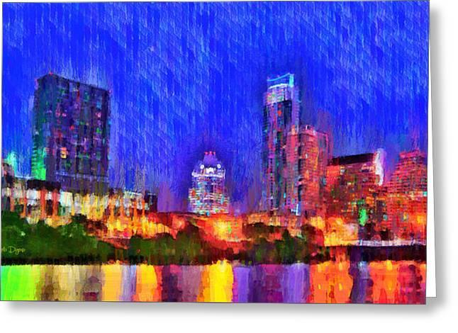 Austin Texas Skyline 100 - Pa Greeting Card