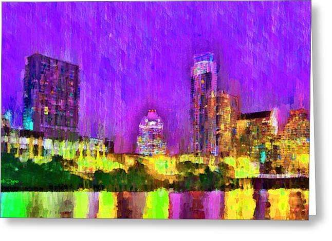 Austin Texas Skyline 104 - Da Greeting Card