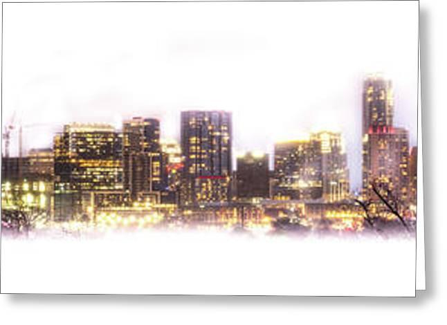 Austin Texas Skyline With White Blackground  Greeting Card