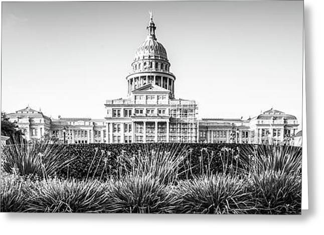 Austin Texas State Capitol Building Panorama Greeting Card by Paul Velgos
