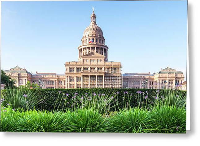 Austin Texas State Capitol Panorama Greeting Card by Paul Velgos