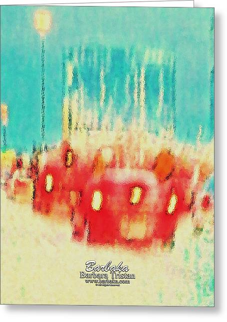 Greeting Card featuring the photograph Austin Traffic by Barbara Tristan