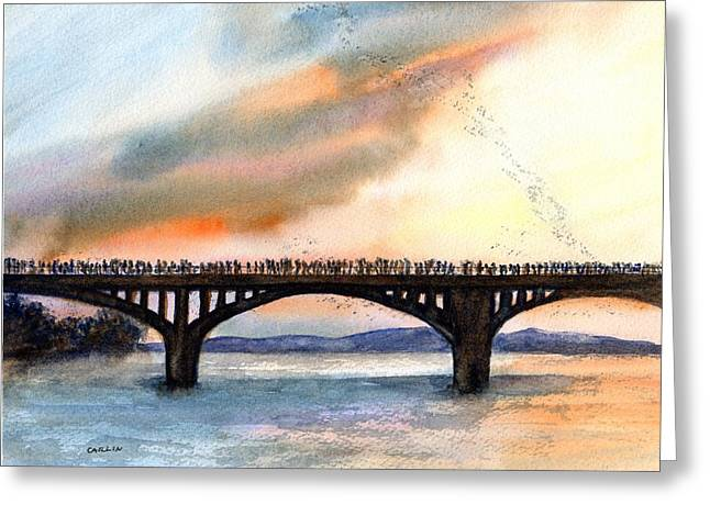 Austin, Tx Congress Bridge Bats Greeting Card