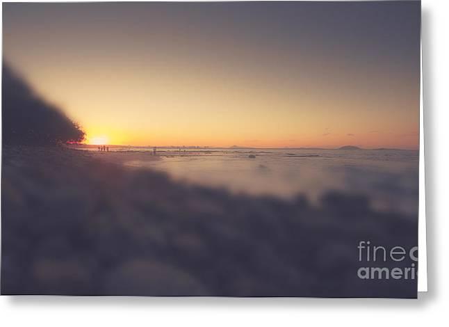 Australian Beach Tilt Shift Landscape Greeting Card by Jorgo Photography - Wall Art Gallery