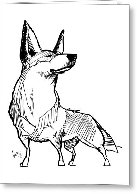 Australian Cattle Dog Gesture Sketch Greeting Card