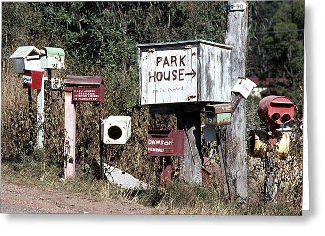 Australian Country Mailboxes Greeting Card by Rick Piper Photography