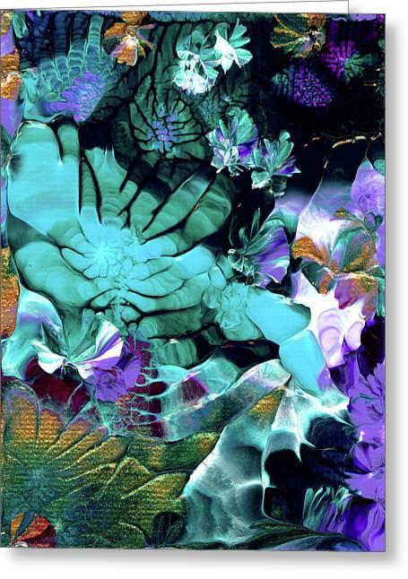 Australian Emerald Begonias Greeting Card