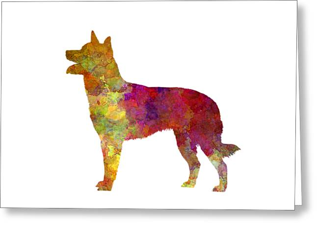 Australian Kelpie In Watercolor Greeting Card