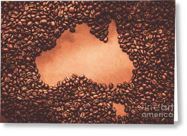 Australian Made Coffee Greeting Card by Jorgo Photography - Wall Art Gallery