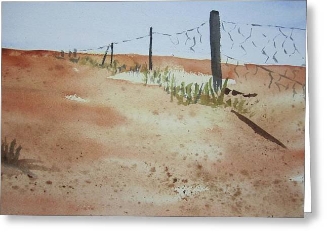 Australian Outback Track Greeting Card