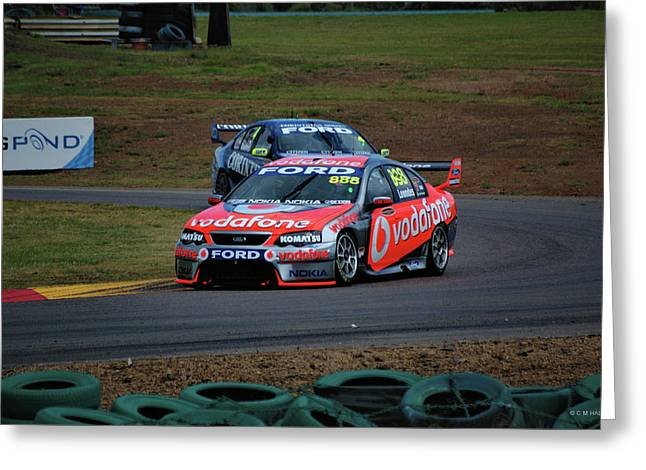 Australian Racing Car Driver Craig Lowndes Greeting Card by Cheryl Hall