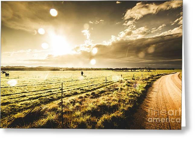 Australian Rural Dirt Road  Greeting Card