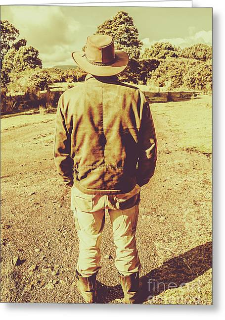 Australian Rural Life Greeting Card by Jorgo Photography - Wall Art Gallery