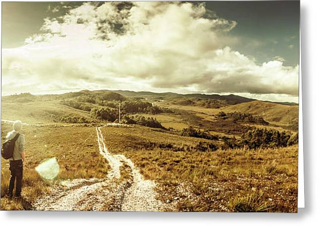 Australian Rural Panoramic Landscape Greeting Card