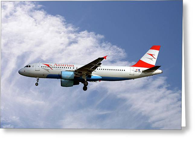 Austrian Airlines Airbus A320-214 Greeting Card