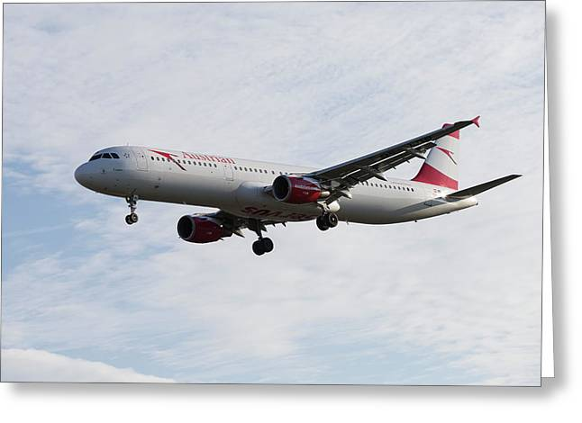 Austrian Airlines Airbus A321 Greeting Card