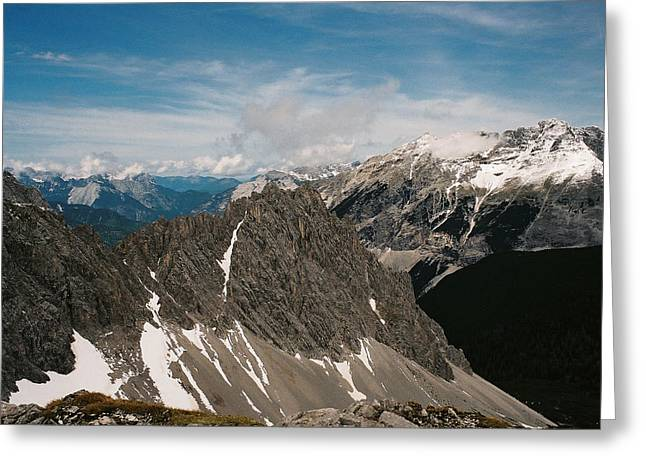 Austrian Alps On A Sunny Day Greeting Card by Patrick Murphy