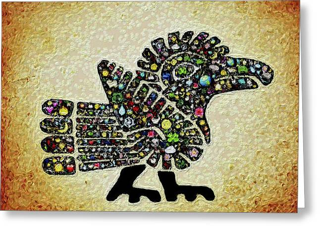 Authentic Aztec Wall Art Greeting Card