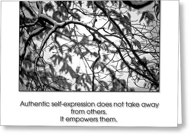 Authentic Self Expression Greeting Card