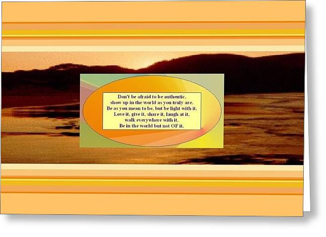 Authenticity Greeting Card