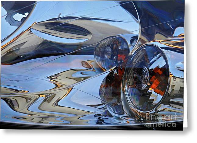 Auto Headlight 184 Greeting Card by Sarah Loft